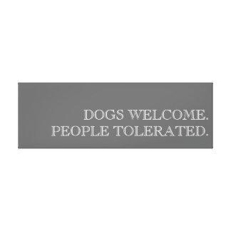 犬は芸術を歓迎します キャンバスプリント