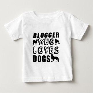 犬を愛するブロガー ベビーTシャツ
