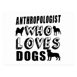 犬を愛する人類学者 ポストカード