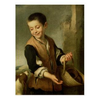 犬を持つ男の子、c.1650 ポストカード