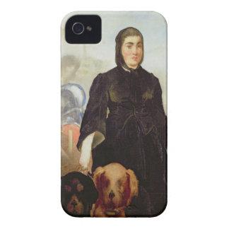 犬を持つManet |の女性、1858年 Case-Mate iPhone 4 ケース