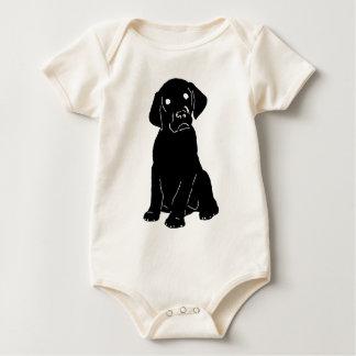 犬ガイドの子犬 ベビーボディスーツ