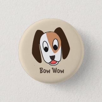 犬バウ・ワウ-よい仕事ボタン 3.2CM 丸型バッジ