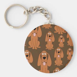 犬パターン。 ブラウンの猟犬、 キーホルダー