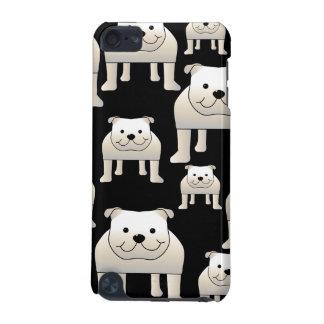 犬パターン。 黒の白いブルドッグ iPod TOUCH 5G ケース