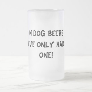 犬ビールで私に1つがありました! おもしろいな曇らされたマグ フロストグラスビールジョッキ