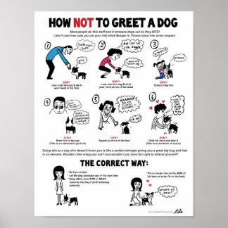 """犬ポスター(11 x 14"""")に-リリーのキーによって…挨拶する方法 ポスター"""