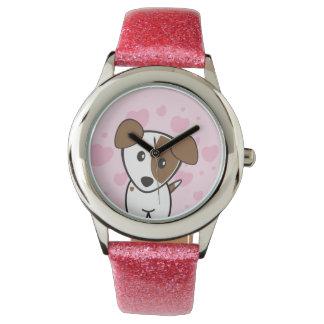 犬ロケットCartoons™ -ユリ 腕時計