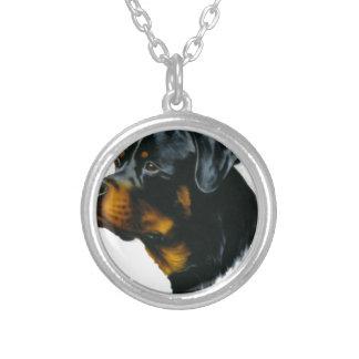 犬ロットワイラー シルバープレートネックレス