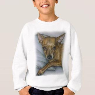 犬動物の芸術のチワワのスケッチ スウェットシャツ