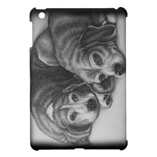 犬動物の芸術を引いているビーグル犬 iPad MINIケース