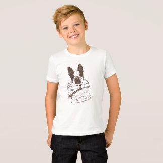 犬及び骨-ボストンテリア Tシャツ