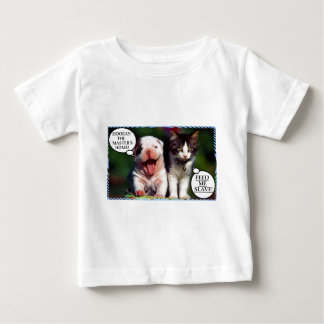 犬対CAT ベビーTシャツ