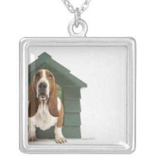 犬小屋による犬 シルバープレートネックレス