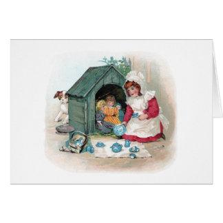 犬小屋のビクトリアンなお茶会 カード