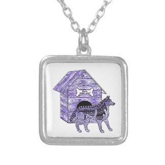 犬小屋 シルバープレートネックレス