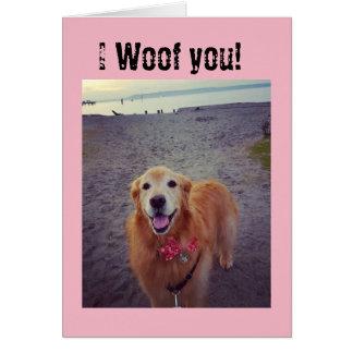 犬愛ブランクのメッセージカード カード