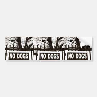 犬無し バンパーステッカー