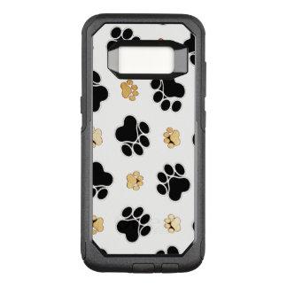 犬犬の足のプリントの白を黒くし、日焼けさせて下さい オッターボックスコミューターSamsung GALAXY S8 ケース