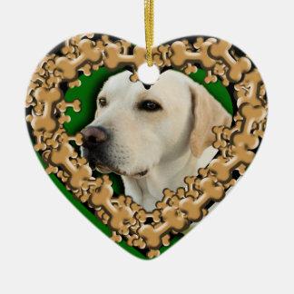 犬用の骨のオーナメントが付いているカスタマイズペット写真 セラミックオーナメント