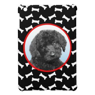 犬用の骨のプリントカスタムなペット写真の白黒 iPad MINIカバー