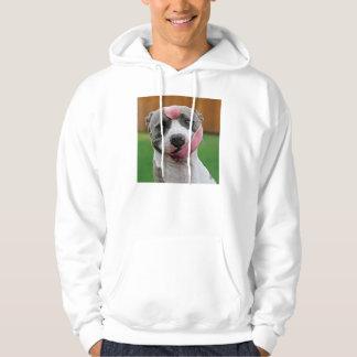 犬舌-ピットブル犬-おもしろい犬 パーカ