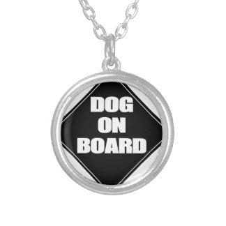 犬船上に シルバープレートネックレス
