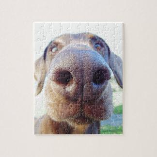犬鼻のクローズアップ ジグソーパズル