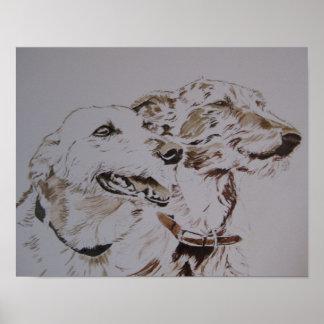 犬2のleuchersの絵を描くこと ポスター