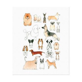 犬 キャンバスプリント
