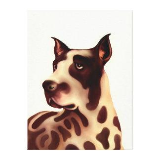 犬-グレートデーン キャンバスプリント