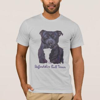 (犬)スタッフォードのブルテリアのティー Tシャツ