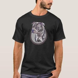 (犬)スタッフォードのブルテリア001 Tシャツ