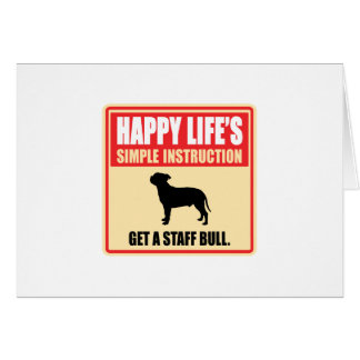 (犬)スタッフォードのブルテリア カード