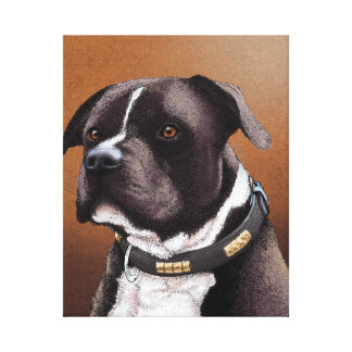 (犬)スタッフォードのブルテリア キャンバスプリント