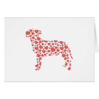 (犬)スタッフォードのブルテリア グリーティングカード
