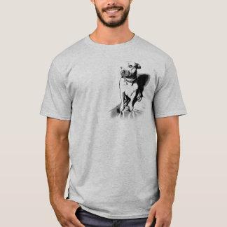 (犬)スタッフォードのブルテリア-不精な眩惑のワイシャツ Tシャツ