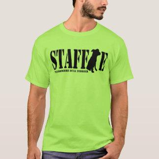 (犬)スタッフォードのブルテリア-子犬のワイシャツ Tシャツ
