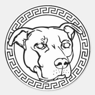(犬)スタッフォードテリアのロゴの円形のバンパーステッカー ラウンドシール