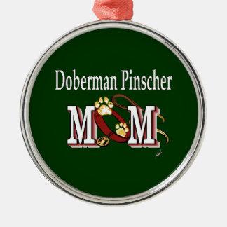(犬)ドーベルマン・ピンシェルのお母さんのギフト メタルオーナメント