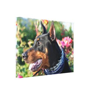 (犬)ドーベルマン・ピンシェルのギャラリーの覆いのキャンバスのプリント キャンバスプリント