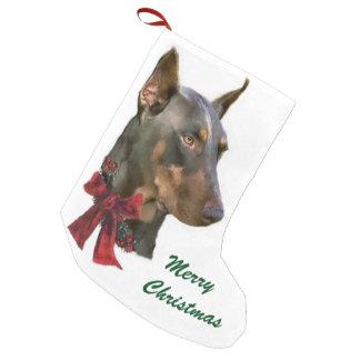 (犬)ドーベルマン・ピンシェルのクリスマス スモールクリスマスストッキング