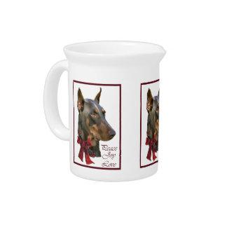 (犬)ドーベルマン・ピンシェルのクリスマス ピッチャー