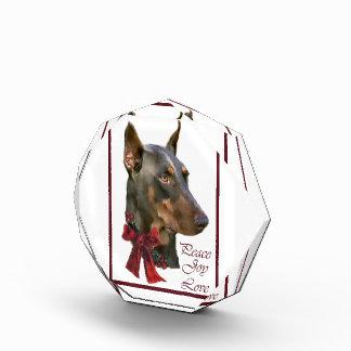 (犬)ドーベルマン・ピンシェルのクリスマス 表彰盾