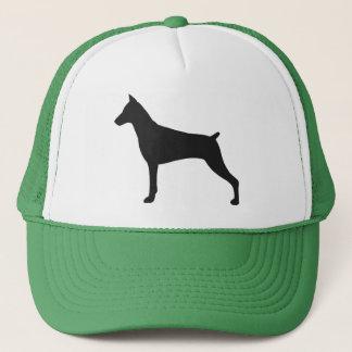 (犬)ドーベルマン・ピンシェルのシルエット キャップ