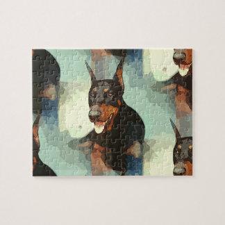 (犬)ドーベルマン・ピンシェルのポートレート ジグソーパズル