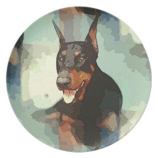 (犬)ドーベルマン・ピンシェルのポートレート プレート