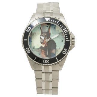 (犬)ドーベルマン・ピンシェルのポートレート 腕時計