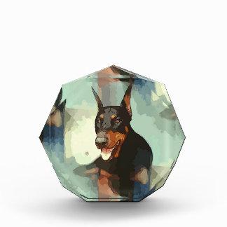 (犬)ドーベルマン・ピンシェルのポートレート 表彰盾