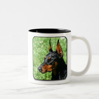 (犬)ドーベルマン・ピンシェルのマグ ツートーンマグカップ
